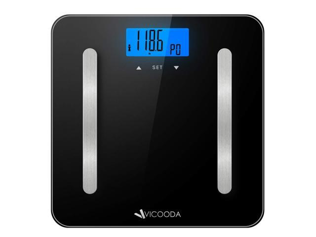 New Vicooda ID0021 Body Analyzer Scale w/ Large backlit Display, 400lb capacity