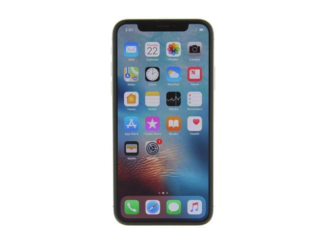 Refurbished: Apple iPhone X a1901 64GB Silver AT&T - Excellent