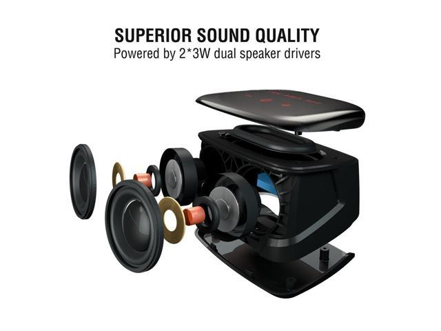 Meidong Bluetooth Speakers Touch Portable Wireless Speaker V4.0 with HD Enhanced Subwofer for Deep Bass, 10 + Hours Playtime for Indoor Outdoor