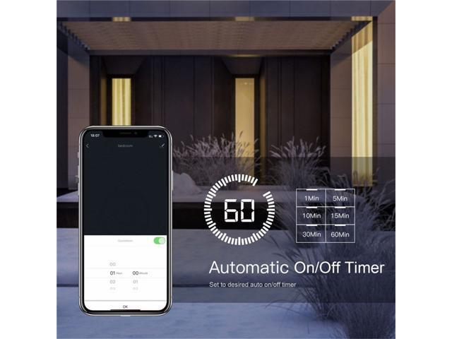 WiFi Smart Light Switch Double Control Light Fan 3-Way Control Remote Control Works with Alexa and Google Home No Hub Required