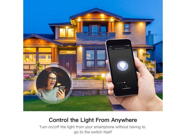 US WiFi Smart Light Switch Control by Smart Life/Tuya APP Works with