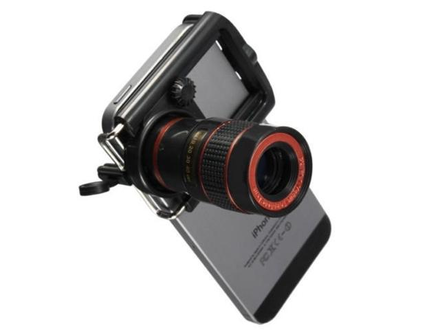 Universal 8x Zoom Optical Camera Telephoto Telescope Lens Holder For iPhone 8 7 6s 6 iPad Samsung Galaxy S8 S8+ S7 S5 S6 Edge HTC Nokia Sony,etc.
