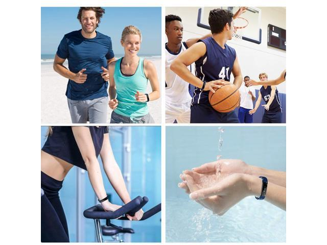 Muzili Fitness Tracker Blue,YG3 Activity Tracker Water Resistant with Sleep Monitor, Bluetooth Smart Wristband Bracelet Sport Pedometer Fitness Watch Step Tracker/Calorie Counter for Android & iOS