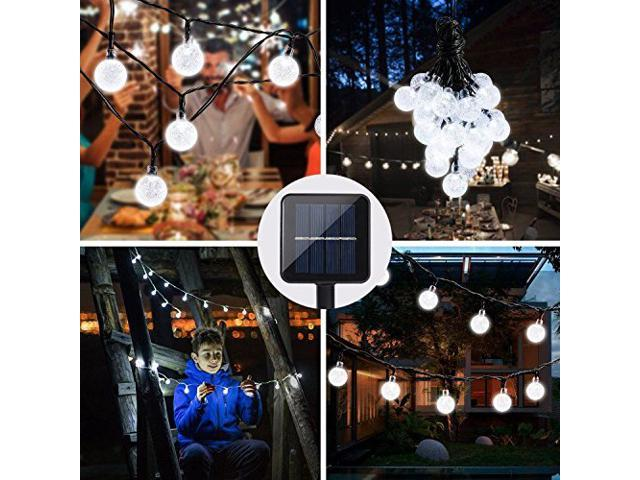 MUZILI Outdoor 50 LED Solar String Lights Outdoor for Christmas Party Wedding Yard and Holiday Decorations Solar Powered Waterproof Globe Garden