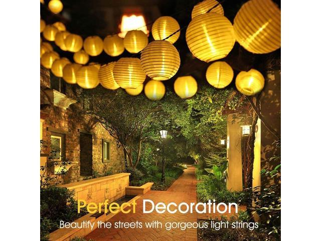 MUZILI Solar LED Lanterns String Lights, ALED Light 21.3Ft 6.5M 30 LED Waterproof Outdoor Decorative Stringed LED String Lights Lanterns for Party, Christmas, Garden, Patio, Halloween, Decoration