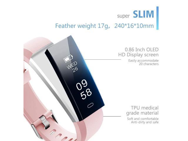 Muzili Fitness Tracker Smart Bracelet Activity Trackers Pedometer Watch Slim Smart Wristband Step Counter Sleep Monitor Calorie Counter Waterproof Fitness Watches for Kids Women Men