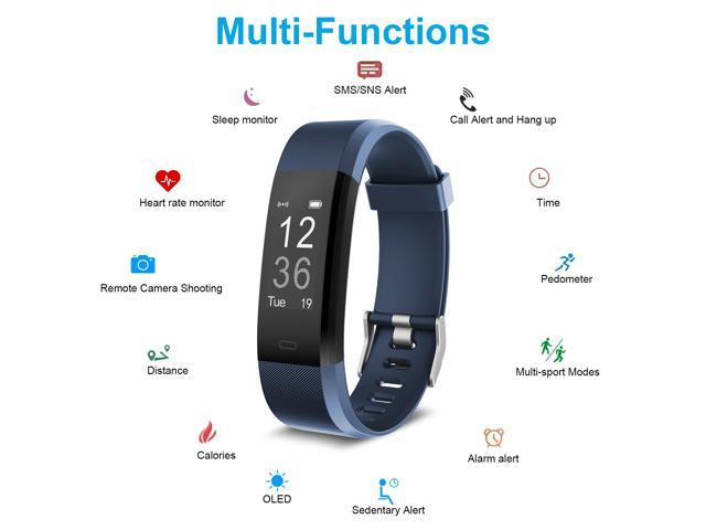 Smart Fitness Band, Muzili Activity Tracker with Heart Rate Monitor, 14 Sport Mode, IPX67 Waterproof Sleep Monitor Activity Band, Call and Message Alert Fitness Tracker for Android and iOS Smart Phone
