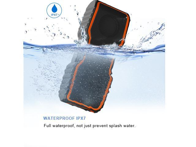 AOMAIS Sport II Portable Wireless Bluetooth Speakers 4.0 Waterproof IPX7, 20W Bass Sound, Stereo Pairing, Durable Design Backyard, Outdoors, Travel, Pool, Home Party (Orange) - OEM