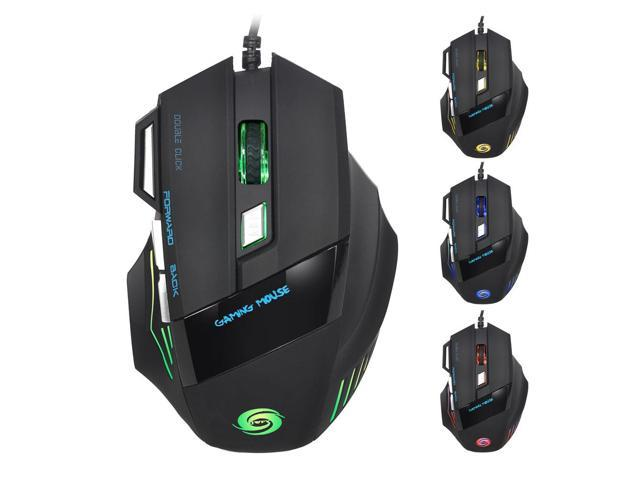 A868 Fantastic Alternating Light USB 2.0 7-Button Wired Game Mouse Black