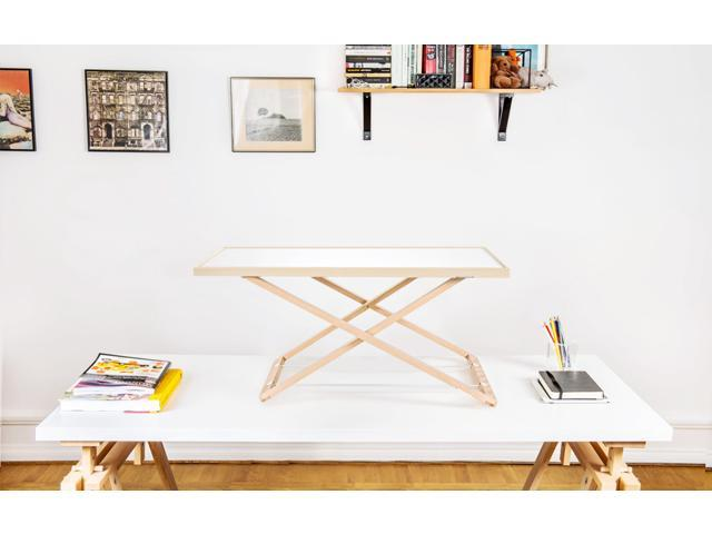 Freedesk, Adjustable Desk Riser Lite, white. 54x80 cm, 21.2x31.5 inch. Only 7,7 Ibs.
