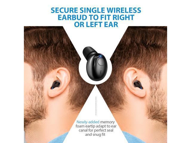 6e9f0e897c9 Mpow Bluetooth Earpiece, 6-Hrs Playtime Wireless Earbud, V4.1 Mini Bluetooth  ...