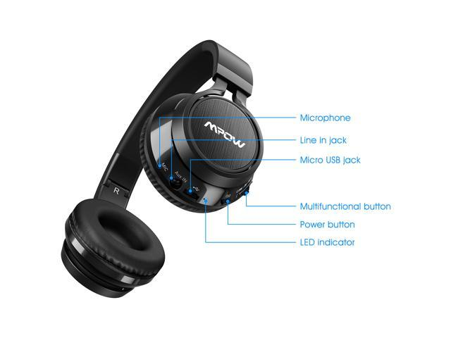 3ff263ab798 Mpow Thor Bluetooth Headphones On Ear, 40mm Driver Wireless Headset Foldable  with Mic, Wired ...