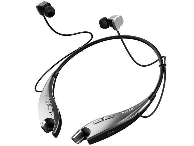 Mpow Jaws Gen-4 Bluetooth Headphones Wireless Neckband Headset V4.1, w/Call Vibrate Alert, Carrying Bag, Built-in Mic