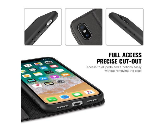 5ce14863ef8 ... SHIELDON iPhone X Case, iPhone 10 Case, iPhone X Genuine Leather Case  with ...