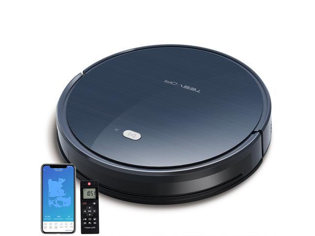 Tesvor Smart Robot Vacuum, App Controls, 1600Pa Strong Suction, Upgraded Auto-Charging, Works with Alexa and Google Home, Perfect for Pet hair and Hard floors