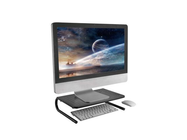 Monitor Stand Riser with Vented Metal for Computer, Laptop, Desk, iMac, Printer with 14.5 Platform 4 inch Height – Black (1 Pack)