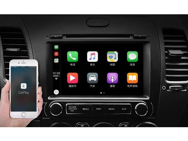 Plug and Play Car Android Stereo Using CarPlay&Android Auto USB Dongle for iPhone and Android 4.4 above smart phone