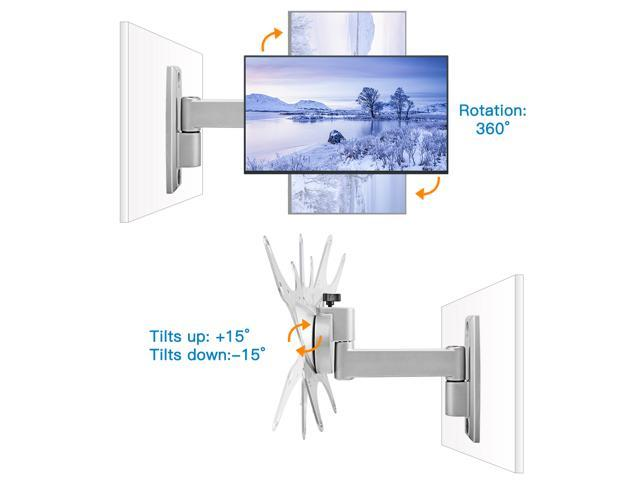 "Sliver Full Motion TV Wall Mount for 15""-37"" TVs & Monitors fits LED, LCD, OLED Flat Screen TVs up to 60lbs Max VESA 200X200cm"