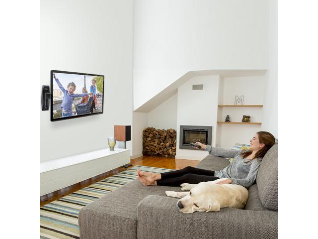 "Wall Mount TV Bracket for 15""-37"" TVs & Monitors fits LED, LCD, OLED Flat Screen TVs up to 60lbs Max VESA 200X200 - ETVM-29B Black"