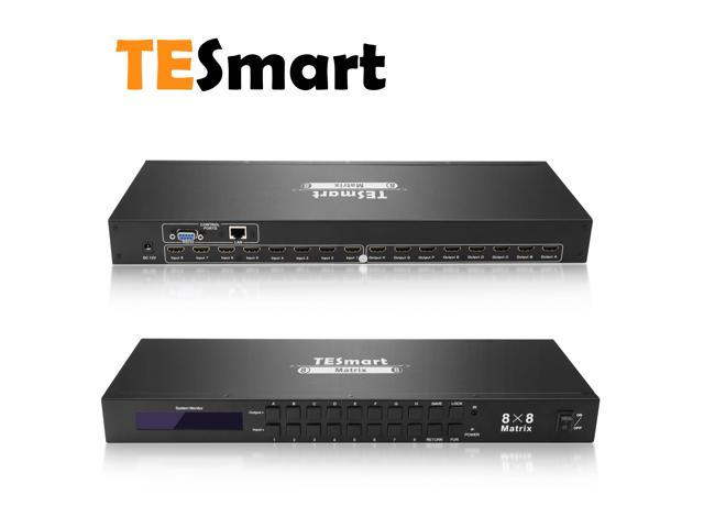 TESmart 8x8 Matrix Switcher Ultra HD 4K HDMI, Rack Mount, 4Kx2K@30HZ, 1080P@60Hz, 3D&Deep Color, LAN Port Control, HDMI 1.4