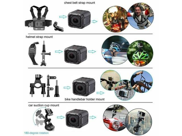 Refurbished: GoPro HERO4 Session + Complete Accessory Kit Bundle W/ 16gb SD Card (40+ Pcs) - OEM