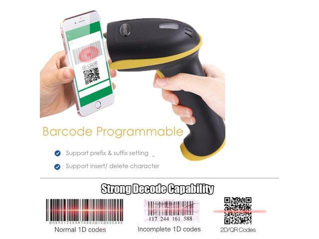 3-In-1 2D Barcode Scanner Bluetooth & 2.4G Wireless & USB Wired CMOS Image Bar Code Reader For QR PDF417 Data Matrix Screen Code USB Scanner with Mobile Payment Computer Screen