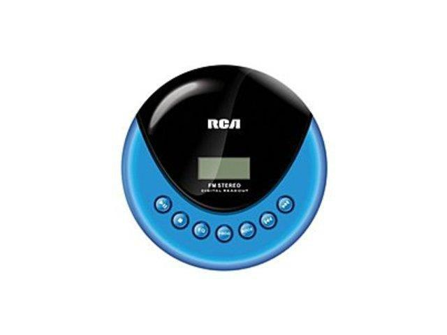Refurbished: RCA RP3013 Personal CD Player with FM Radio - Blue, Black