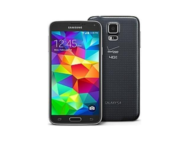 Refurbished: Samsung Galaxy S5 SM-G900VZKAVZW Smartphone - GSM 850/900/1800/1900 MHz - Bluetooth 4.0 - 5.1-inch Display - Verizon - 16 GB Memory - Android - 16.0 Megapixels Camera - Charcoal Black - Locked to ...