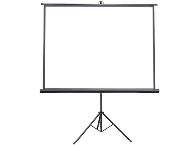 """VIVO 84"""" Portable Projector Screen 4:3 Projection Pull Up Foldable Stand Tripod (PS-T-084)"""