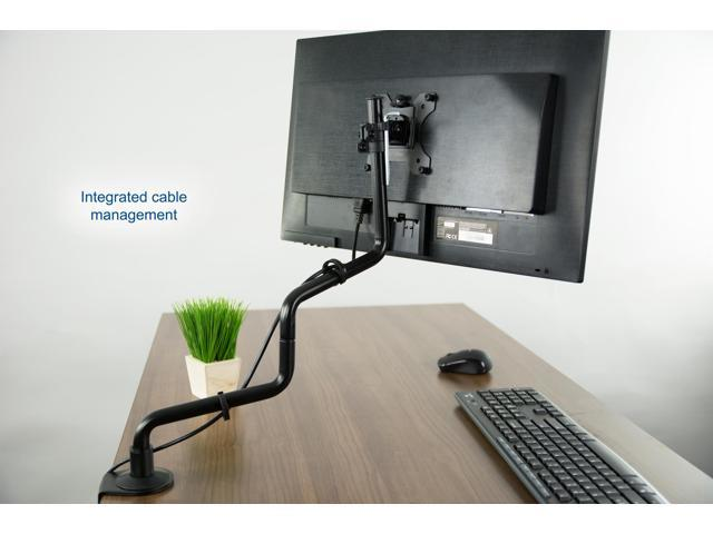 "VIVO Black Full Articulating Motion Single Monitor Desk Mount Steel Stand for Screen up to 32"" (STAND-V001S)"