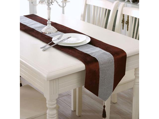 Sparkle Luxury Diamante Table Runner Cover Wedding Party Decor 32 x 210cm Brown