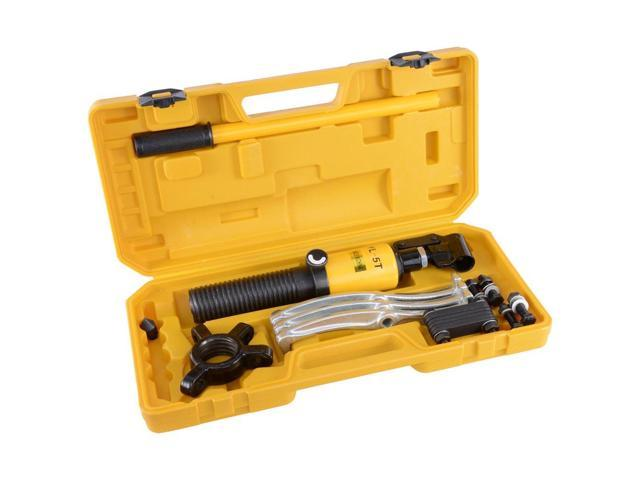 5 Ton Hydraulic Gear Puller Bearing Wheel Pulling 3in1 Pumps Oil Tube Drawing Machine w/ Case