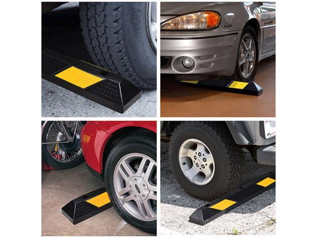 "36"" Rubber Curb Parking Block Car RV Trailer Wheel Tire Stopper Garage Driveway"