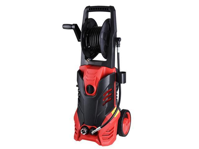 3000PSI 1.9GPM Electric Power Pressure Washer 5 Nozzles Built-in Soap Tank Hose Reel