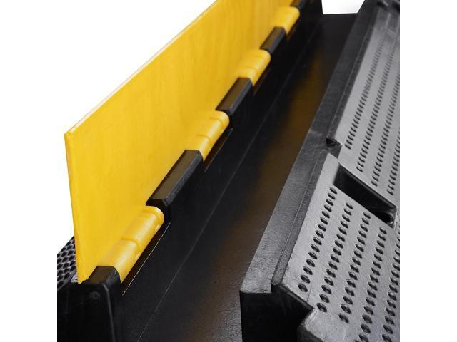 Medium Rubber Electrical Wire Cover Ramp Guard Warehouse Cable Cord Protector