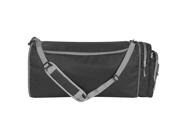 Travelon Convertible 2-in-1 Crossbody Travel Duffel Gym Bag Black