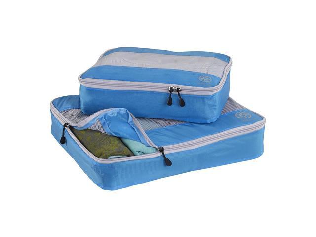 2Pcs Uncharted Ultra-Lite Clothes Storage Packing Cube Travel Luggage Set Blue