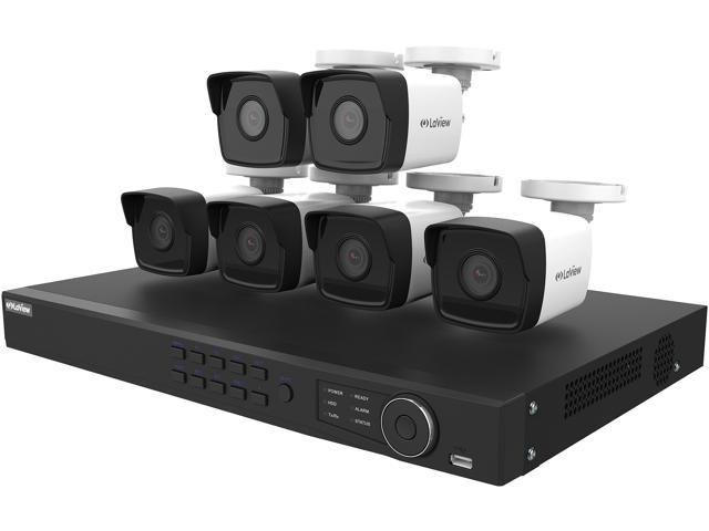 LaView LV-KNT984A42W4 4MP zoom HD 8 Channel NVR PoE IP Security System, with 2pcs 4MP (2688 x 1520p) and 4pcs 2MP (1920 x 1080p) Bullet Camera (No HDD Included, Sold Separately)