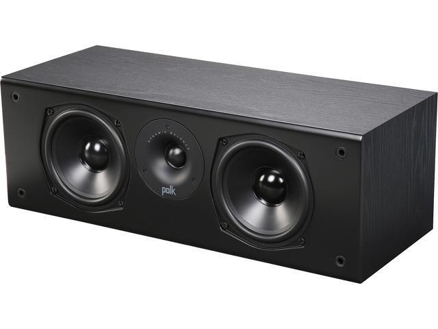 Polk Audio T30 100 Watt Home Theater Center Channel Speaker (Black)