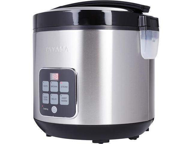 Tayama TRC-50H1 Digital Rice Cooker and Food Steamer, Black, 20 Cups cooked/10 Cups uncooked