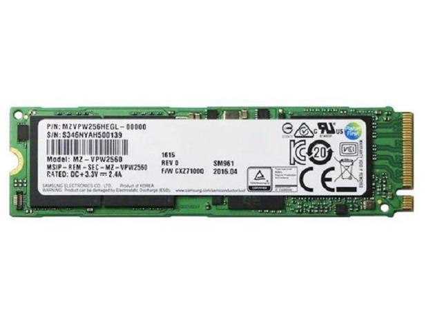 Samsung SM961 256GB (NVMe) SM961 MZVPW256HEGL-00000 MZ-VPW2560 Gen3 M.2 80mm PCIe 3.0 x4 256G SSD - OEM