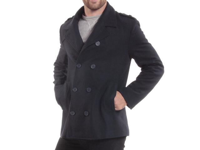 ce3e80dc95f Alpine Swiss Jake Mens Pea Coat Wool Blend Double Breasted Dress Jacket  Peacoat ...