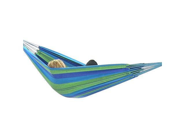 sunnydaze brazilian double hammock 2 person portable hammock bed for indoor or outdoor use     sunnydaze brazilian double hammock 2 person portable hammock bed      rh   flash newegg