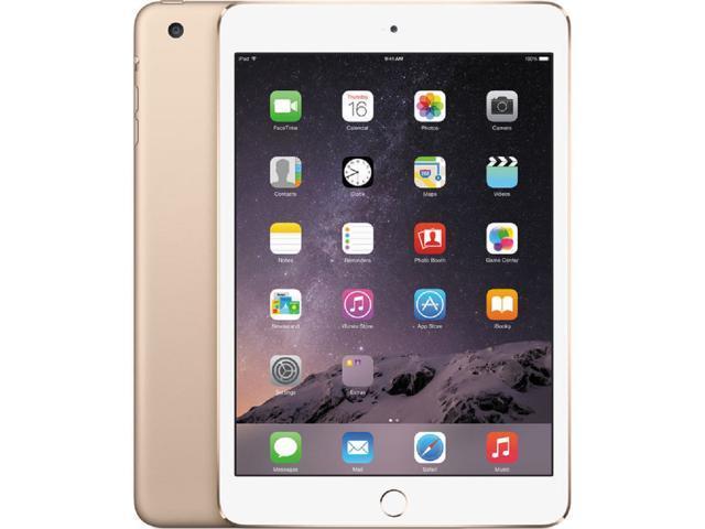 Apple iPad Mini 3 7.9-Inch Retina Display - 16GB, Wi-Fi, Apple iOS 8 (Gold - MGYE2LL/A) - OEM