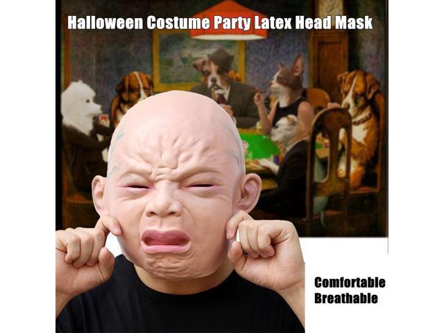 Creepy Cry Baby Full Head Face Latex Scary Mask Halloween Costume Adult Mask ...  sc 1 st  Newegg Flash & Creepy Cry Baby Full Head Face Latex Scary Mask Halloween Costume ...