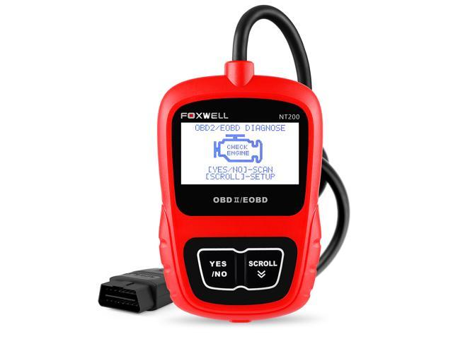 Automotive OBD II Scanners FOXWELL NT200 Obd2 Fault Code Reader Turn Off  Engine Light Check Engine ...