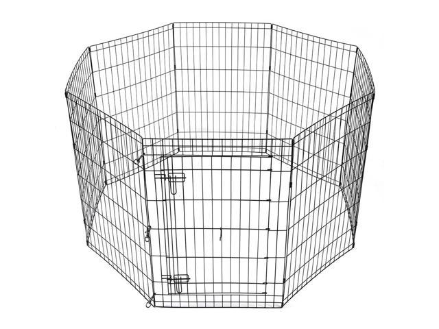 36 Pet Dog Playpen Exercise Fence Cage Kennel Play Pen With Door 8