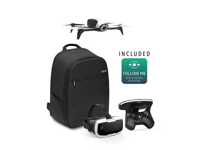 Parrot BeBop 2 Adventurer Bundle White, Beginner, Drone Quadcopter, Camera Included, Fixed Mount, 1080p, 14