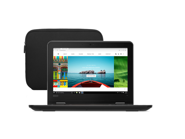 "Refurbished: Lenovo ThinkPad 11e 11.6"" Chromebook 4GB Ram, 16GB SSD, Intel CPU 1.83 GHz - Includes Black Laptop Case - OEM"