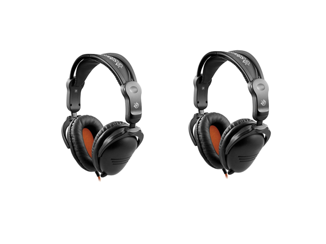 SteelSeries 3Hv2 Gaming Headset - Black/Orange - 2-Pack - OEM